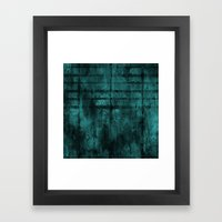Turquoise Lined Rusted M… Framed Art Print