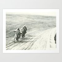 Board Track Racers  Art Print