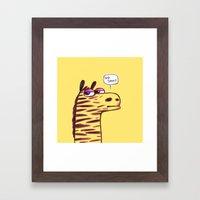 Purple Zebra :) Framed Art Print
