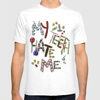 My Teeth Hate Me Mens Fitted Tee White SMALL