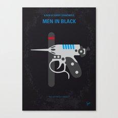 No586 My Men in Black minimal movie poster Canvas Print