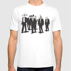 Walt's Protection Crew White Mens Fitted Tee SMALL