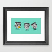 Kick The Bucket Framed Art Print