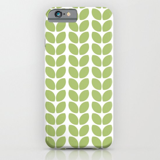 Kitchen Window Uptown Coffee Festival 2016: Leaves - Green IPhone & IPod Case By Her Art