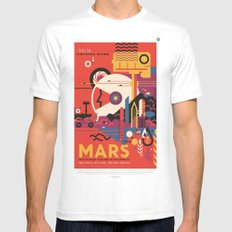 Mars Tour : Space Galaxy Mens Fitted Tee White SMALL