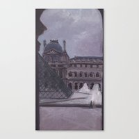 A Peek Out the Louvre Canvas Print