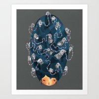 Birdhair Art Print
