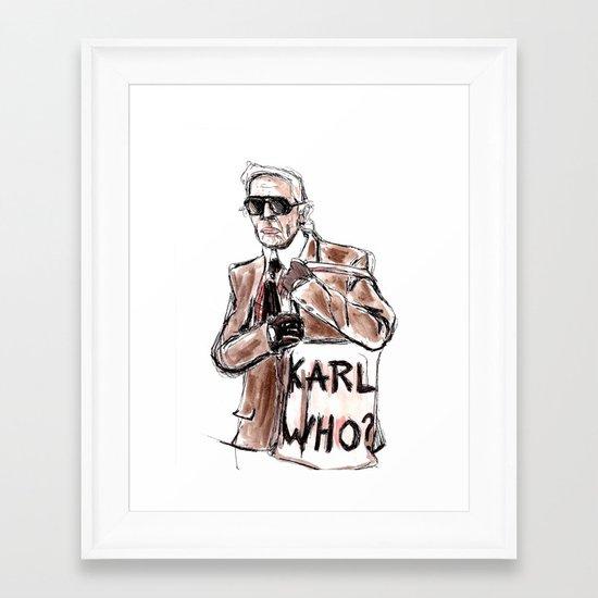 Karl who? Framed Art Print