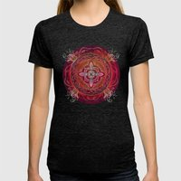 Root Chakra Womens Fitted Tee Tri-Black SMALL