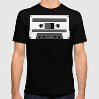 Black And White Tapes 45 Mens Fitted Tee Black SMALL