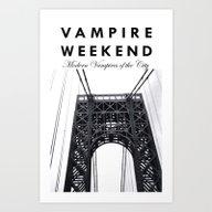 Art Print featuring Vampire Weekend / George… by Harold Ordonez Photo…