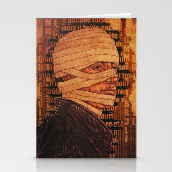 The Burn Man still in love Stationery Card