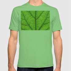 green leaf texture Mens Fitted Tee Grass SMALL