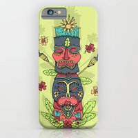 iPhone & iPod Case featuring Tiki totem by Binnyboo