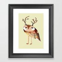 Owl Print, Owl Illustrat… Framed Art Print