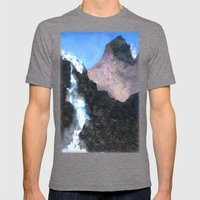 Canadian Mountain Scene Mens Fitted Tee Tri-Grey SMALL