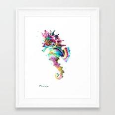 Baby Seahorse Framed Art Print