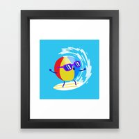 Lets Surf The Ocean Together! Framed Art Print