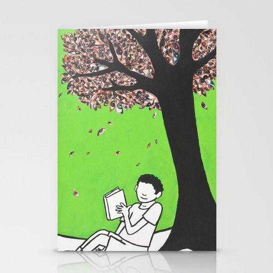 Falling Leaves Stationery Card