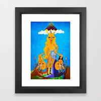 Frigga Framed Art Print