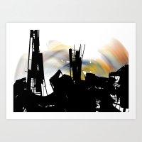 City Eclypse Art Print