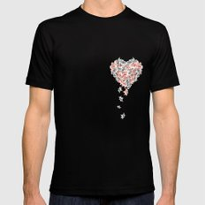 Pattern lovers Black SMALL Mens Fitted Tee