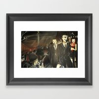 Except Us - Anonymous Framed Art Print