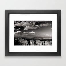 Grand Canyon - Black and White Framed Art Print