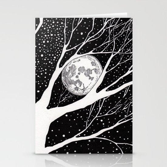 moonlight shadow Stationery Card