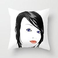 minimal girl 1 Throw Pillow