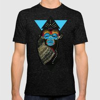 Color Me Monkey Mens Fitted Tee Tri-Black SMALL