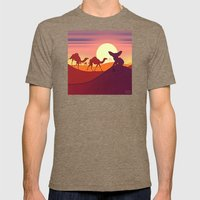 Fennec Fox Mens Fitted Tee Tri-Coffee SMALL