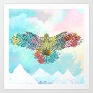 Colorful Eagle Art Print
