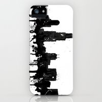 iPhone 5s & iPhone 5 Cases featuring Watercolor Chicago Skyline by Trinity Bennett