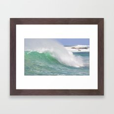 Making Waves Pillow Framed Art Print
