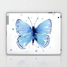 Butterfly Blue Watercolor Butterflies Laptop & iPad Skin