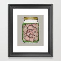 Pickled Pigs Framed Art Print