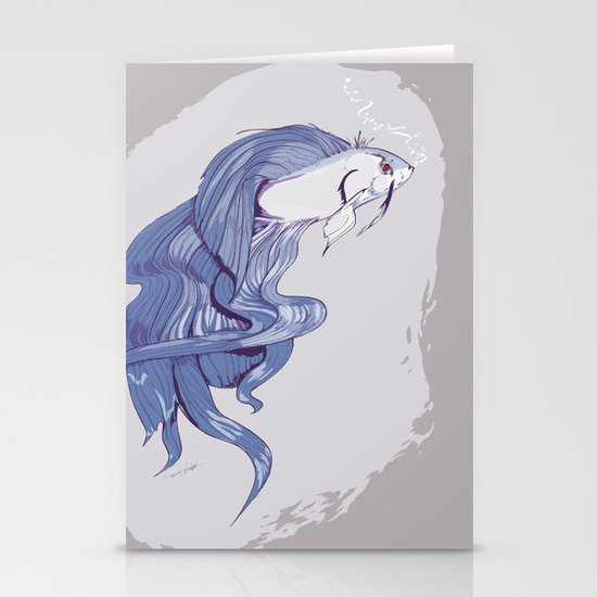 Mean Fighting Fish Stationery Card