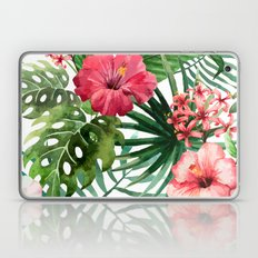 Hand painted tropical flowers Laptop & iPad Skin