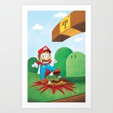 Mario Mess Art Print