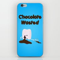 Chocolate Wasted (blue) iPhone & iPod Skin