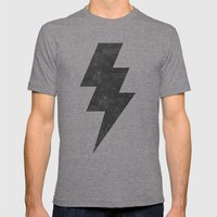 Lightning Strike Mens Fitted Tee Tri-Grey SMALL