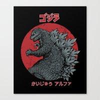 Gojira Kaiju Alpha Canvas Print