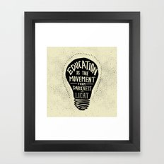 Education: Darkness to Light Framed Art Print