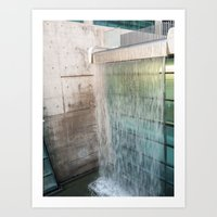 Modern Waterfall Art Print
