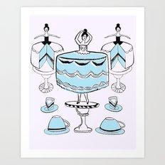 Let Them Wear Cake Art Print