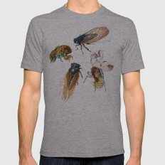 summer cicadas Mens Fitted Tee Athletic Grey SMALL