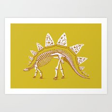 Pizzasaurus Awesome! Art Print