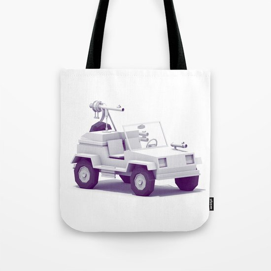 Battle Jeep Tote Bag