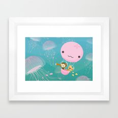 The Octonauts Jellyfish … Framed Art Print